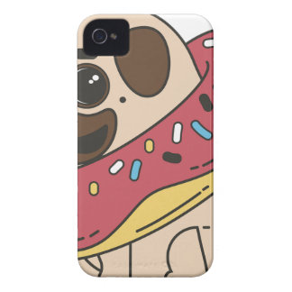 Pug Donut Sweets Tasty Bun Cupcake Case-Mate iPhone 4 Cases