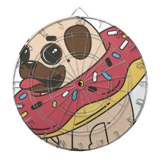 Pug Donut Sweets Tasty Bun Cupcake Dartboard