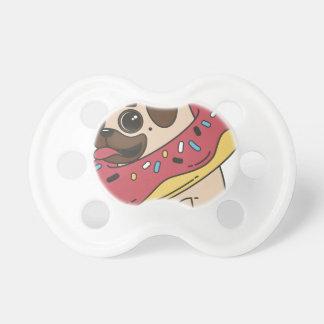 Pug Donut Sweets Tasty Bun Cupcake Pacifier