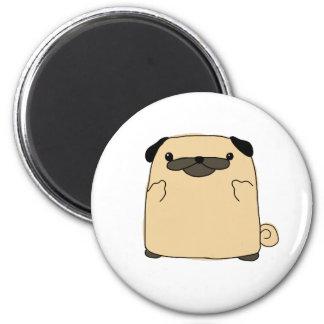 Pug Double Bird 2 Inch Round Magnet