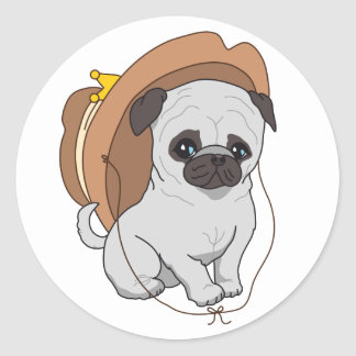 Pug Drawing 2 By Pablo Fernandez Stickers