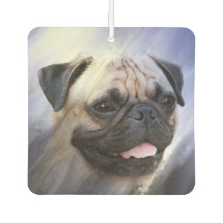 Pug face car air freshener