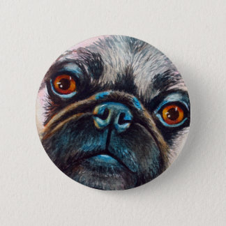 Pug Face Close up 2 Inch Round Button
