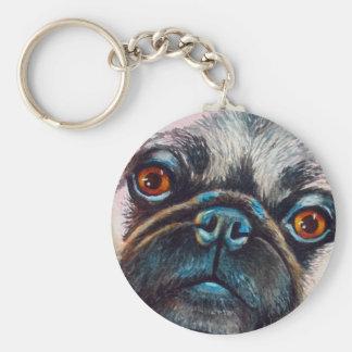 Pug Face Close up Keychain