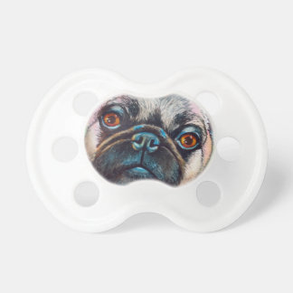 Pug Face Close up Pacifier