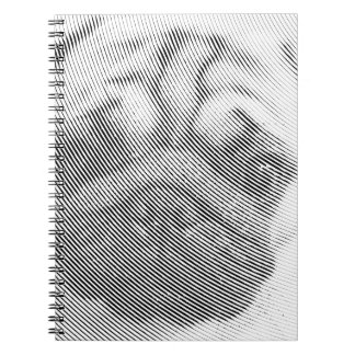 Pug Face Spiral Notebook