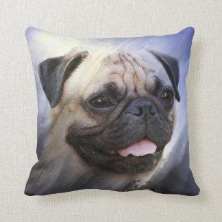 Pug face throw pillow