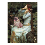 Pug (fawn 2) - Ophelia Seated Poster