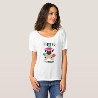 Pug Fiesta Then Siesta Cinco De Mayo T-Shirt