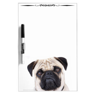 Pug Funny Face Decorative Dry Erase Board
