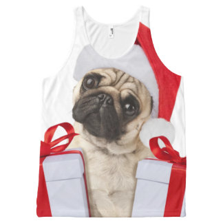 Pug gifts - dog claus - funny pugs - funny dogs All-Over-Print tank top