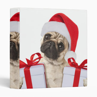 Pug gifts - dog claus - funny pugs - funny dogs binder