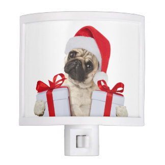 Pug gifts - dog claus - funny pugs - funny dogs night lites