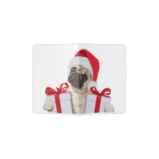 Pug gifts - dog claus - funny pugs - funny dogs passport holder