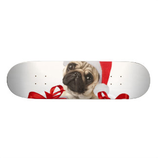 Pug gifts - dog claus - funny pugs - funny dogs skateboard