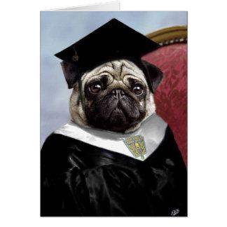 Pug graduation card