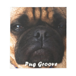 Pug Groove The Main Man Notebook Notepad