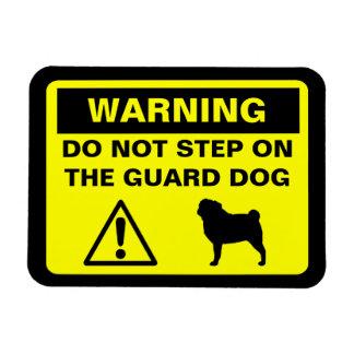 Pug Guard Dog Warning Magnet