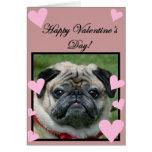 Pug Happy Valentine's Day Greeting card