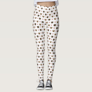 pug heart pants! leggings