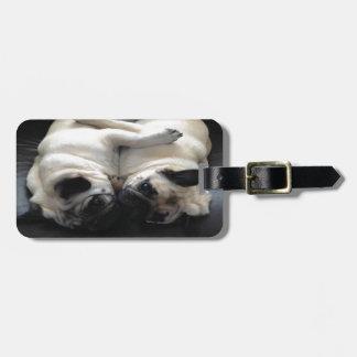 Pug Hugs Luggage Tag