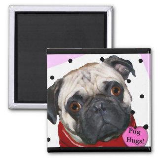 pug hugs magnet