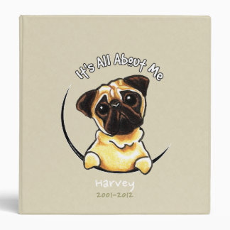 Pug IAAM Personalized Memory Photo Album Vinyl Binders
