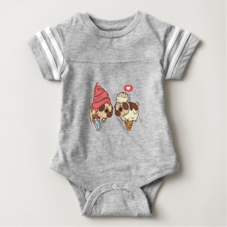 pug_ice_cream.png baby bodysuit