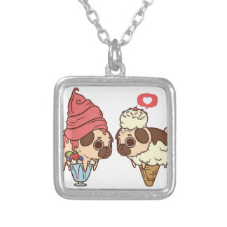 pug_ice_cream.png silver plated necklace