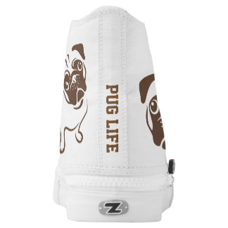 Pug Illustration High Tops