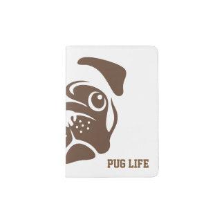Pug Illustration Passport Holder