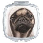 Pug In A Hoodie Makeup Mirror