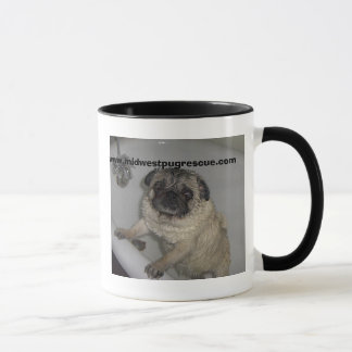 pug in a tub, www.midwestpugrescue.com mug