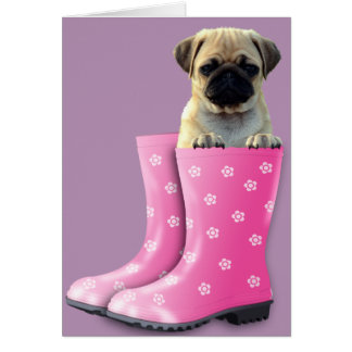 Pug In Boots Card