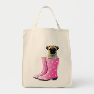 Pug In Boots Tote Bag