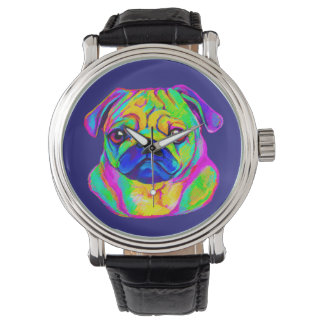 Pug in Colors Wrist Watch