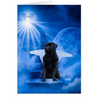Pug in Heaven as Angel Sympathy Card