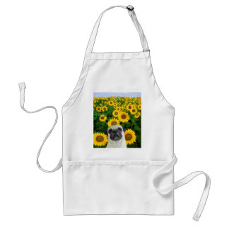 Pug in Sunflowers apron