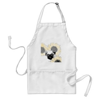 Pug in Sunflowers Standard Apron