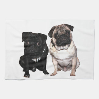 Pug Jack and Richi Kitchen Towel