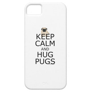 Pug: Keep Calm Pugs Slogan iPhone 5 Cover