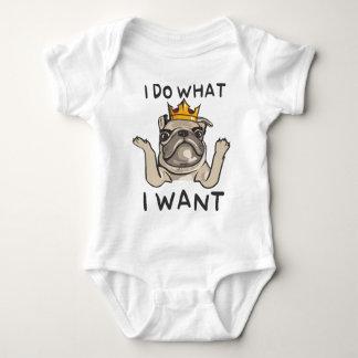 PUG KING Villi Baby Bodysuit