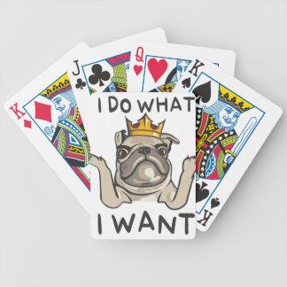 PUG KING Villi Bicycle Playing Cards