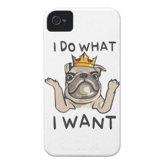 PUG KING Villi Case-Mate iPhone 4 Cases