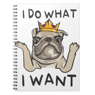 PUG KING Villi Notebooks
