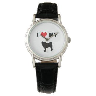 """Pug"" Leather Watch"