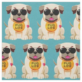 Pug Life custom color fabric