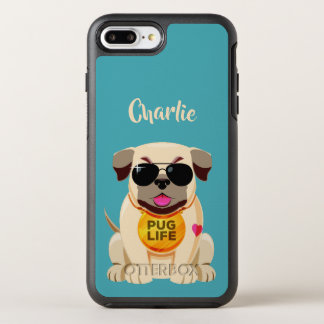 Pug Life custom name & color phone cases