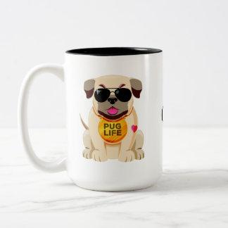 Pug Life custom name mugs