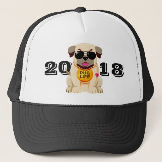 Pug Life custom text hats